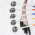 Disposable EEG Electrode with conical Cups. 25/set, 100 or 150cm leads