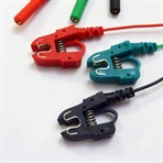 Clip Cable - Miniclip Red, Black & Green. 100cm lead with TP connector