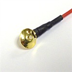 10mm GOLD Disc Electrodes with 150cm cable. Pack of 25