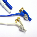 Ear Electrode 9mm cup, Short Lead, TP Connector. (Pair)