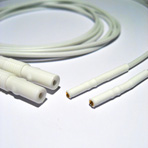 100cm Connection Lead, 1mm Socket to TP Connector. Pair